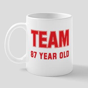 Team 87 YEAR OLD Mug