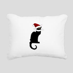 Christmas Le Chat Noir W Rectangular Canvas Pillow