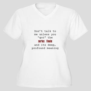 Don't Talk to Me - Happy Women's Plus Size V-Neck