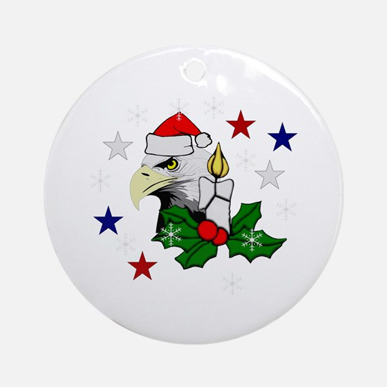Christmas American Eagle Ornament (Round)
