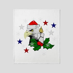 Christmas American Eagle Throw Blanket