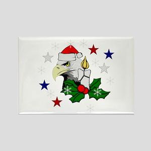 Christmas American Eagle Rectangle Magnet