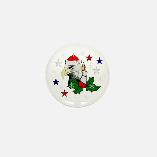 Christmas American Eagle Mini Button