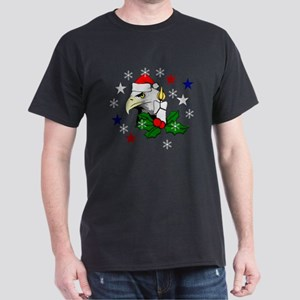 Christmas American Eagle Dark T-Shirt