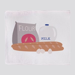 Flour & Milk Throw Blanket