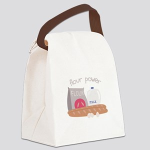 Flour Power Canvas Lunch Bag