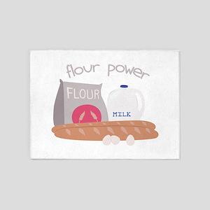 Flour Power 5'x7'Area Rug