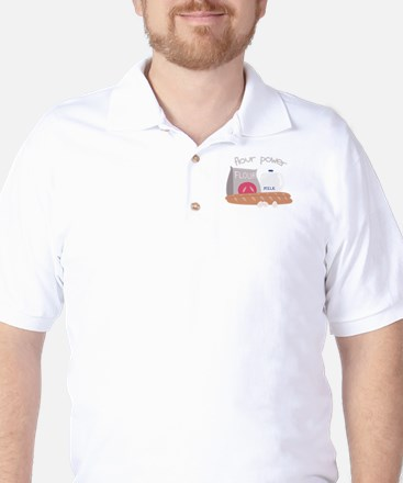 Flour Power Golf Shirt
