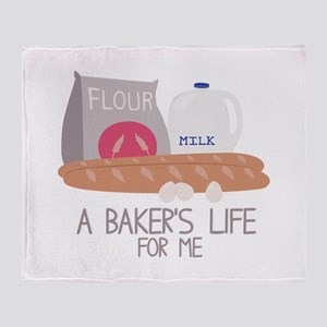 A Bakers Life Throw Blanket