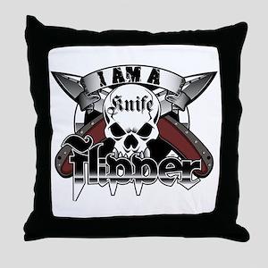 Flipper Knives Throw Pillow