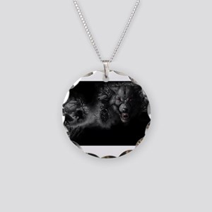 werewolf Necklace Circle Charm