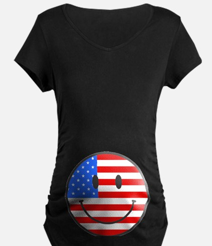 Smiley Face Fourth Of July T-Shirt