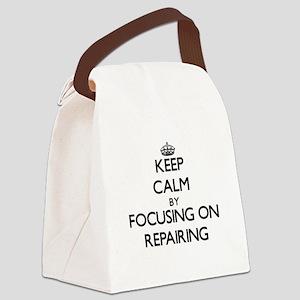 Keep Calm by focusing on Repairin Canvas Lunch Bag