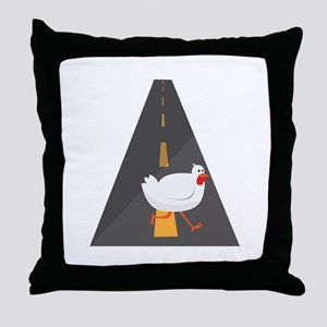 Geese Crossing Throw Pillow