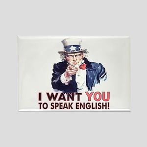 Speak English Rectangle Magnet