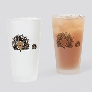 A01 Hedgehogs Drinking Glass