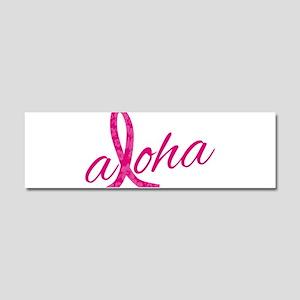 Pink Ribbon Hibiscus Aloha Car Magnet 10 x 3