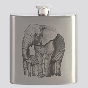 Drawn Elephant Flask