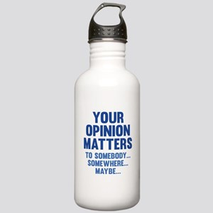 Your Opinion Matters Stainless Water Bottle 1.0L