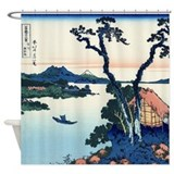 Japanese art Shower Curtains