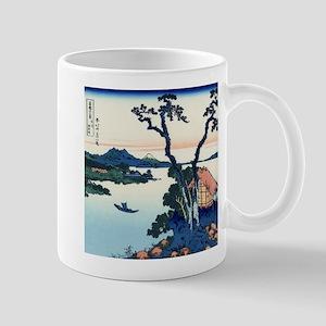 Lake Suwa by Hokusai Mugs