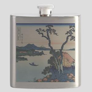 Lake Suwa by Hokusai Flask