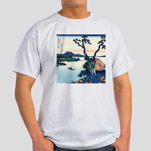 Lake Suwa by Hokusai T-Shirt