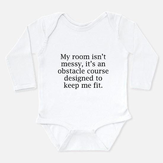My Room Isn't Messy Long Sleeve Infant Bodysuit
