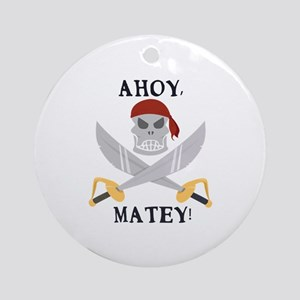 Ahoy Matey Ornament (Round)