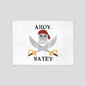 Ahoy Matey 5'x7'Area Rug