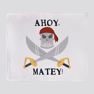 Ahoy Matey Throw Blanket