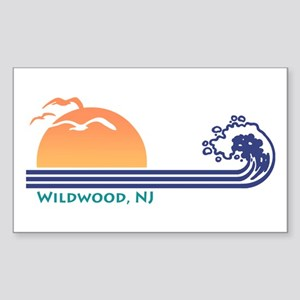 Wildwood New Jersey Sticker (Rectangle)