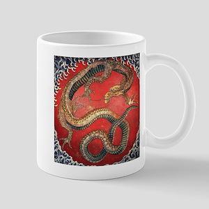 Hokusai Dragon Mugs