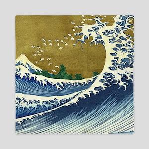 Hokusai Great Wave Queen Duvet