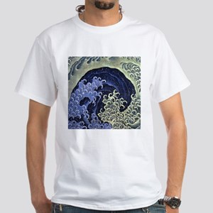 The Feminine Wave by Hokusai T-Shirt