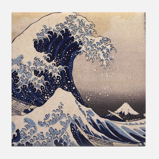 Great Wave by Hokusai Tile Coaster