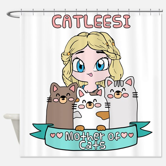 Cute Cat lady Shower Curtain