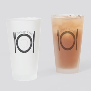 Bon Appetit Drinking Glass
