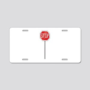 Stop Sign Aluminum License Plate