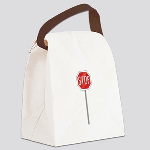 Stop Sign Canvas Lunch Bag