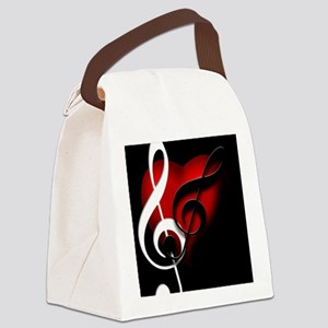 HeartandClefs Canvas Lunch Bag