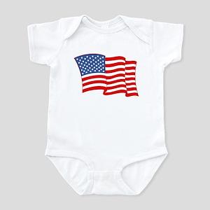American Flag 4th Of July Infant Bodysuit