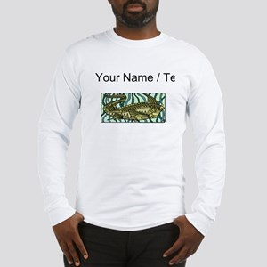 Custom Green Oar Fish Long Sleeve T-Shirt