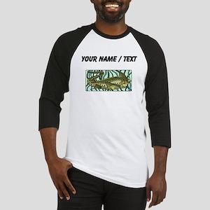 Custom Green Oar Fish Baseball Jersey