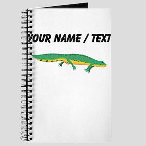 Custom Green Newt Journal