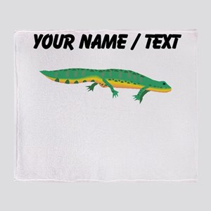 Custom Green Newt Throw Blanket
