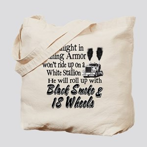Black Smoke & 18 Wheels Tote Bag