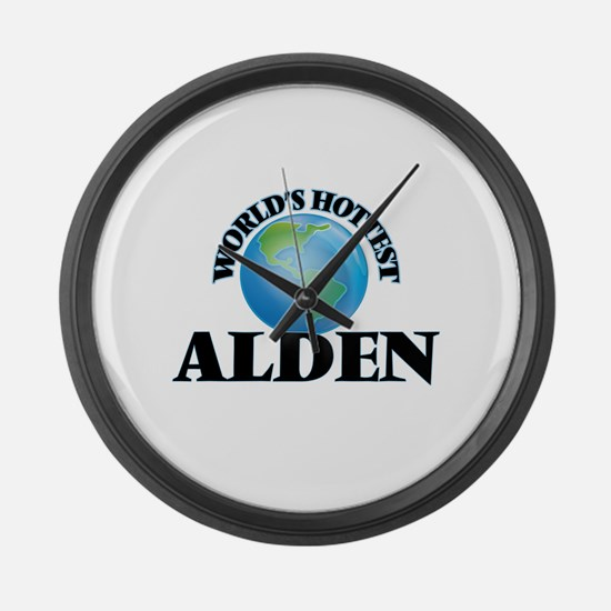 World's Hottest Alden Large Wall Clock