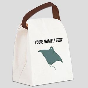 Custom Manta Ray Canvas Lunch Bag