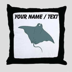 Custom Manta Ray Throw Pillow